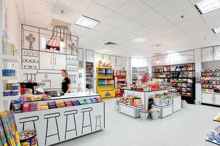 What a fun way to set out a shop.  The Candy Room by Red Design Group