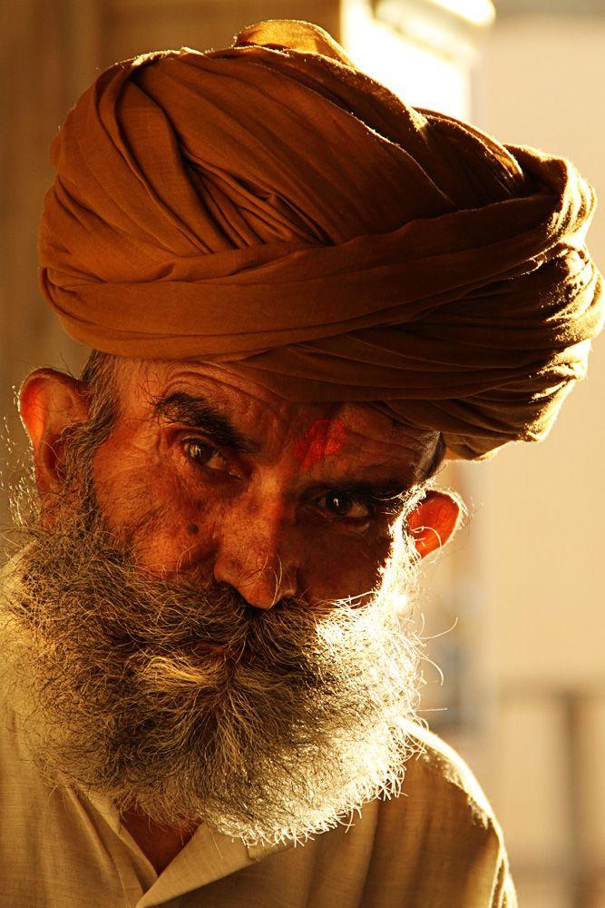 A Rajasthani devotee inside Karni Mata Temple.