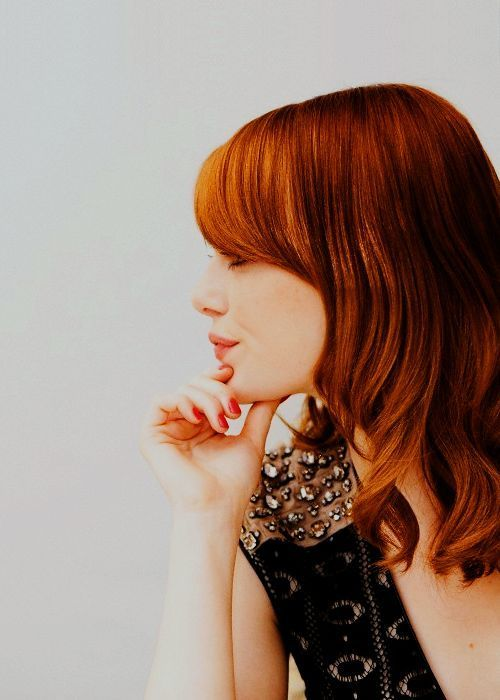 Emma StoneHair Beautiful, Stones Foxes, Hair Colors, Red Hair, Blondes Highlights, Redheads, Stones Home, Red Head, Emma Stones