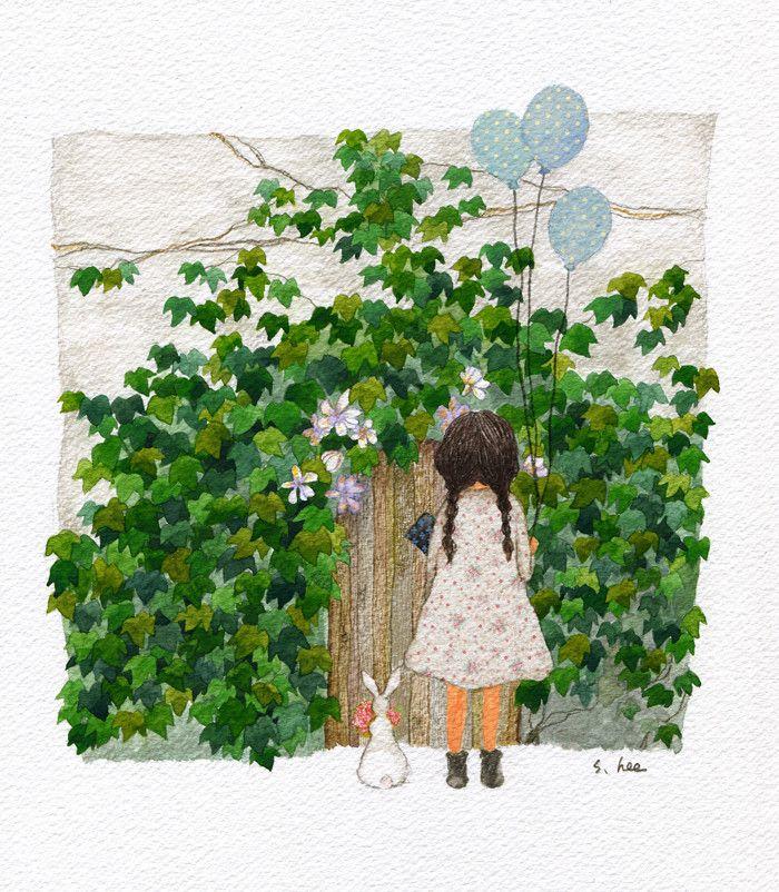 花园的故事 来自插画师초록담쟁이作品