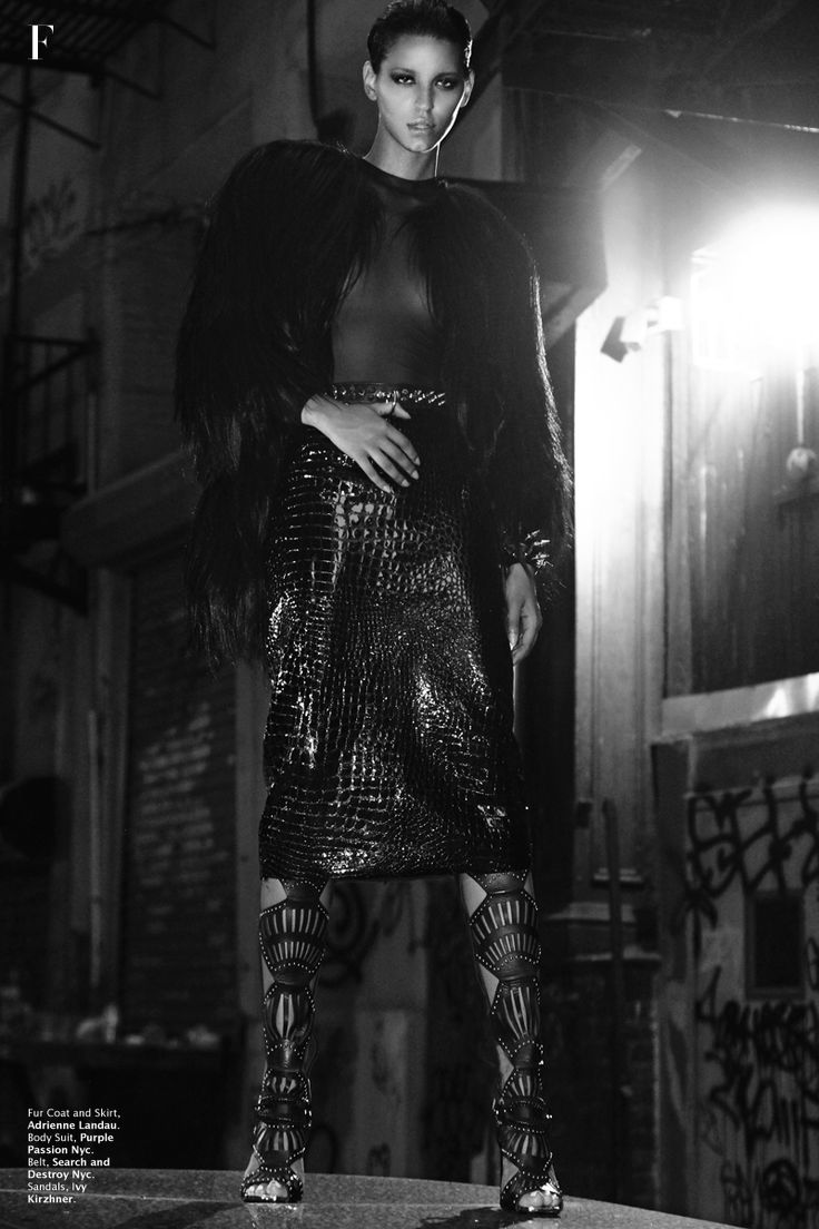 Paint in Black, Nejilka by Ace Amir | Factice Magazine | The French Fashion Magazine