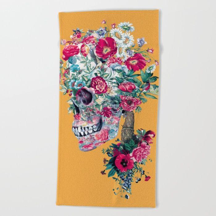 SKULL XIII Beach Towel #skull #art #summer