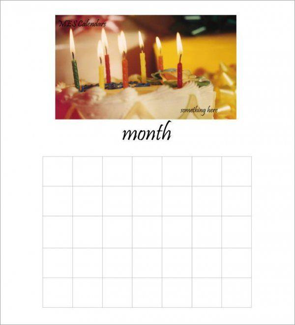 Pinterestu0027teki 25u0027den fazla en iyi Blank calendar template fikri - birthday calendar template