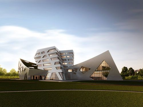 architectural buildings designs. Luneburg University\u0027s Libeskind Building In Luneburg, Germany 2 - Educational Buildings Architecture Inspiration Architectural Designs O