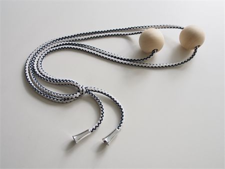 zig - natural timber bead & 2 tone cord necklace