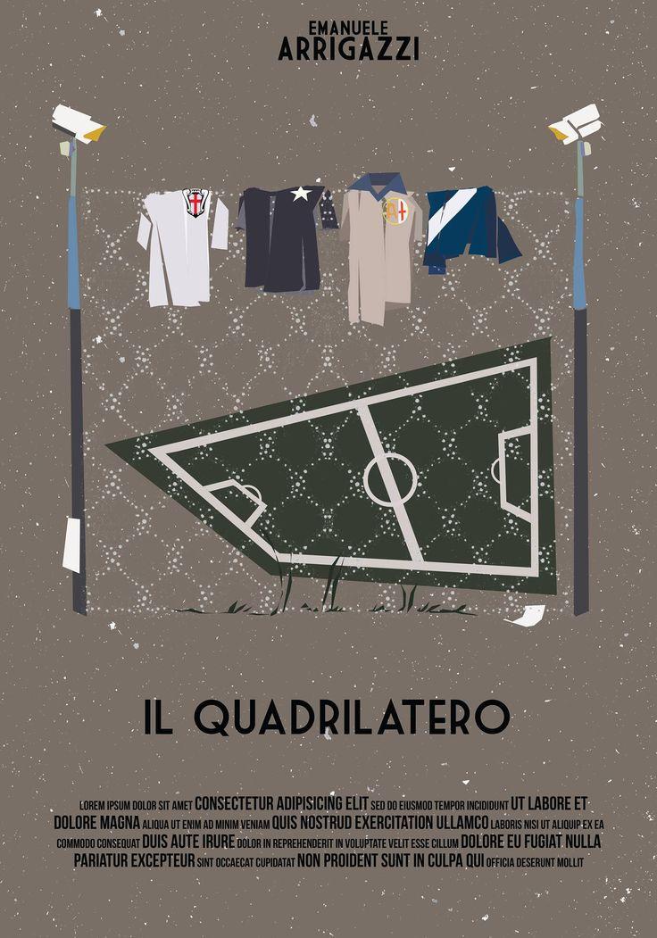 """5° Classificata Contest """"Una Locandina per il Quadrilatero""""  Artwork by Gabriella Scarafiotti."""