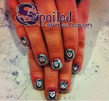 nails! Penguins:) Created at Spoiled Spa and Salon in Vancouver, WA