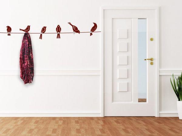 Superb Wandtattoo Garderobe V gel mit Wandhaken