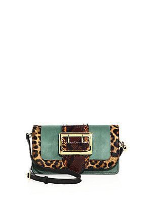 Burberry Chipstead Patchwork Multicolor Snakeskin, Calf Hair & Suede Shoulder Bag