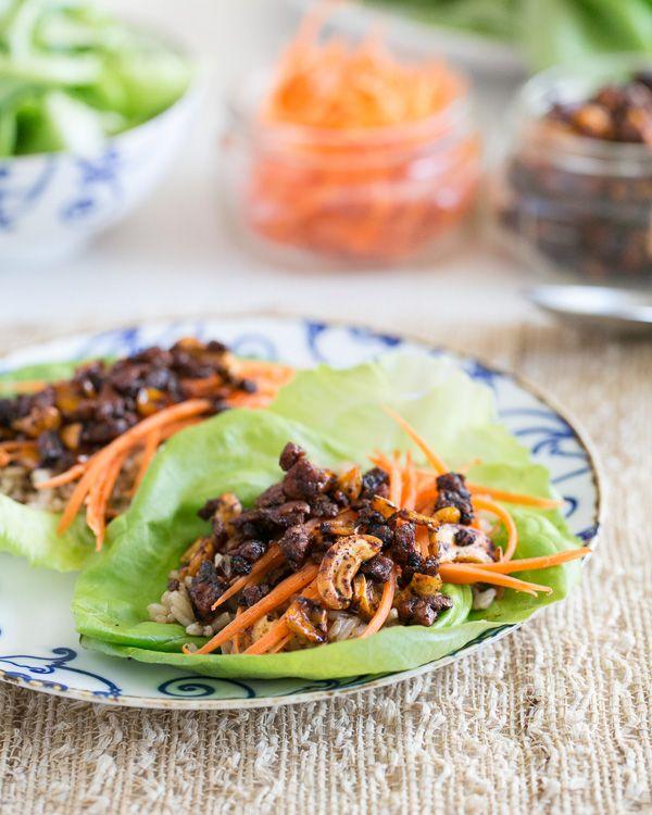 Spicy Cashew Lettuce Wraps