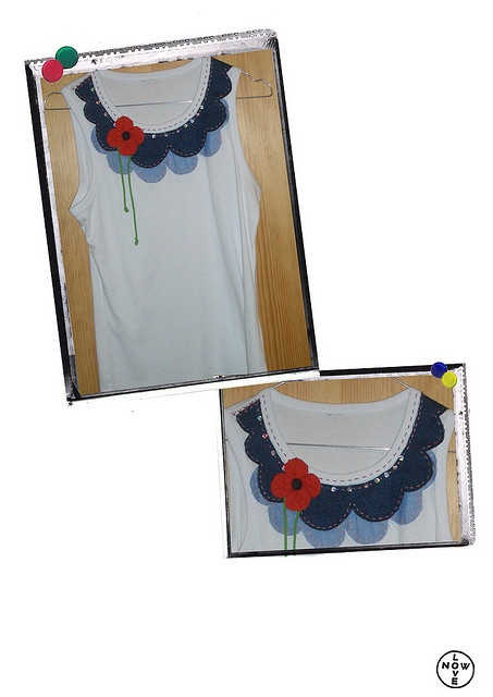 re-do white top whit jeans applications and embroidery    for more informations contact:  cristina@lovenow.it     Some of the cool fashion pictures I found.   If  You are interested in  fashion courses here is something interesting http://fashiondesigncourse.easy2u.eu