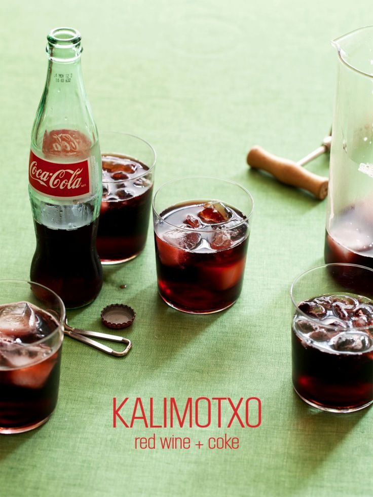 Whatever idiom you need to use, use it; you need to get this Kalimotxo concoction from Spoon Fork Bacon in your belly. Red wine & coke mixture! http://societysouth.com/kalimotxo/?utm_campaign=coschedule&utm_source=pinterest&utm_medium=Society%20South%20(TASTE)&utm_content=Kalimotxo