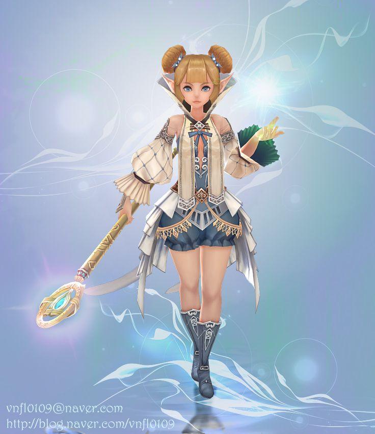 ArtStation - Handpainted Character - Healer, Sily Kim