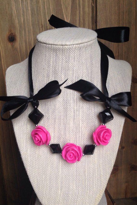 Romantic Rose Hot Pink by BecksCustomCreations on Etsy, $12.00