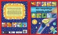 """Min trespråkiga talande ordbok : somaliska & svenska & engelska     """"Med den trespråkiga talande ordboken kan barn - och vuxna - se vardagsord avbildade i ett sammanhang och läsa dem samtidigt. Över 650 vanliga ord finns med - om kroppen, känslor, familj, hemmet, skolan och trettio teman till.   Med hjälp av PENpal kan du lyssna på orden, bild för bild på tre olika språk i varje bok. Du kan också spela in direkt i boken och lägga till de ord du vill lära ditt barn."""""""