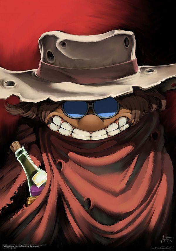 Poster du dessin animé Albator, personnage Tochiro