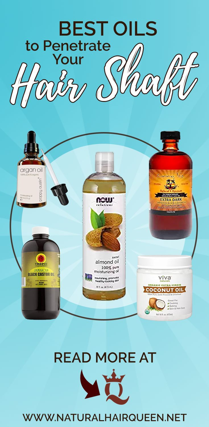 Oils that penetrate hair shaft have