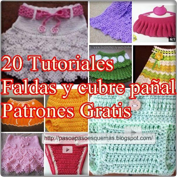 Mejores 40 imágenes de faldas crochet en Pinterest | Patrones de ...