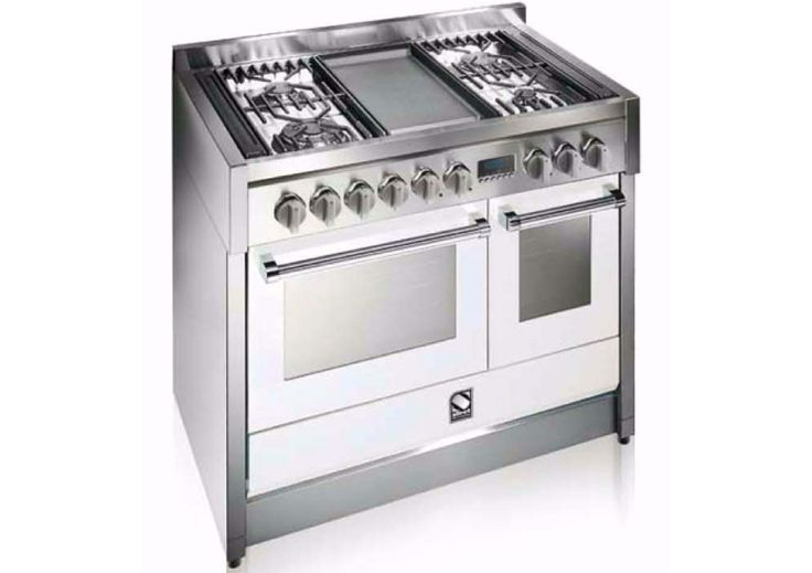 Steel Genesi 100 Steam Combi Oven in white