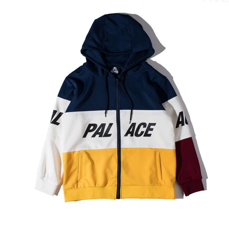 Latest Palace Hoodies Men Women 100% Cotton Palace Skateboards Patchwork Environmental Protection Sweatshirt Palace Brand Hoodie