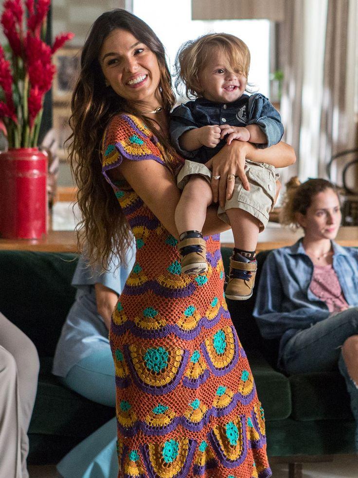 Apenas apaixonados por esse vestido de crochê! (Foto: Fábio Rocha / Gshow)