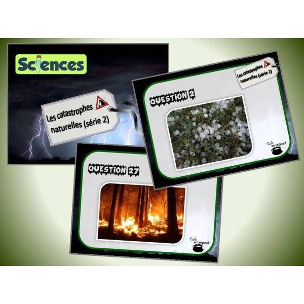 Cette série de cartes à tâches traite des catastrophes naturelles et des phénomènes météorologiques (sciences, la Terre et l'espace). Dans le cadre de cette activité, les élèves doivent identifier les catastrophes naturelles représentées sur chacune des cartes.