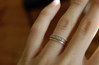 Charming new wedding rings: Engagement ring wedding band different hands