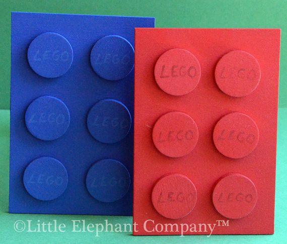 Set/2 Building Blocks Curtain Holdbacks in Red by LittleElephantCo, $29.99