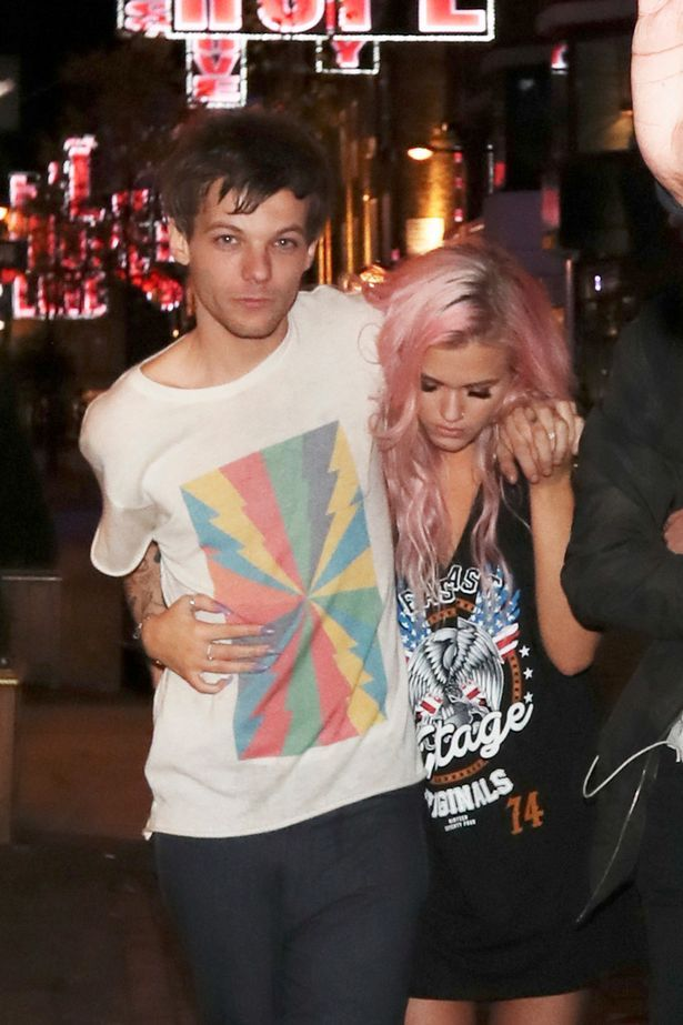 Louis Tomlinson spotted leaving Cirque nightclub around 4am with his sister, stepfather and girlfriend Danielle Campbell in London, UK
