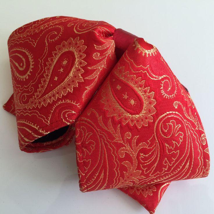 Hello Mariachi Moño de Charro Brocade Floral Red