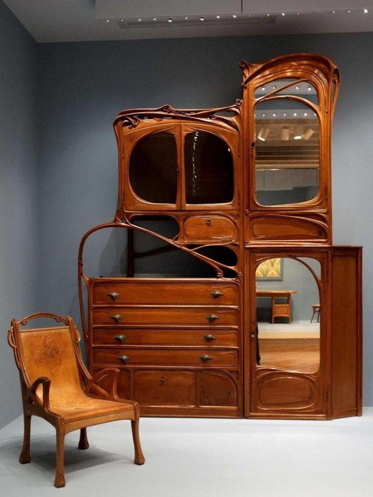 680 best art nouveau furniture furnishings images on. Black Bedroom Furniture Sets. Home Design Ideas