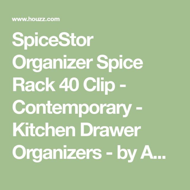 SpiceStor Organizer Spice Rack 40 Clip - Contemporary - Kitchen Drawer Organizers - by Amazon