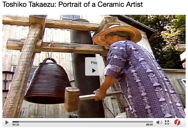 Toshiko Takaezu's pots have such power and presence. Films on Demand at http://digital.films.com/play/R2UF49 has videos of Takaezu.