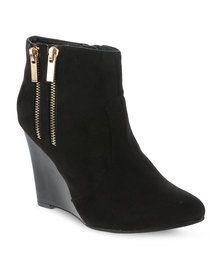 Madison Fulton Wedge Ankle Boots Black