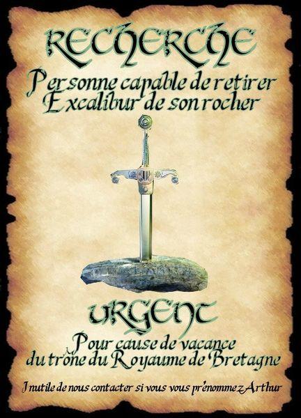 affiche excalibur