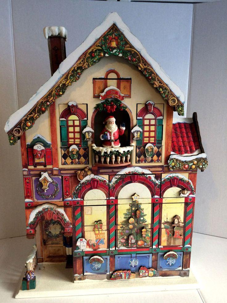 Christmas Advent House.Wooden Christmas Calendar Easy Home Decorating Ideas