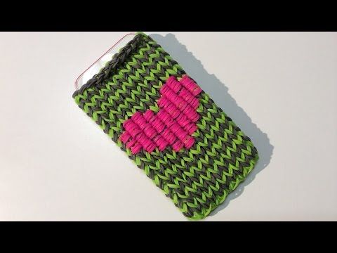 Rainbow Loom Nederlands, Iphone/Ipod hoesje met hart, Phone case with heart - YouTube