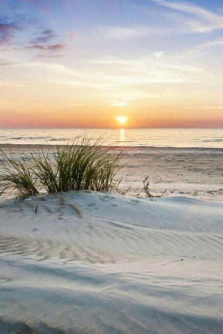 White sand beaches...