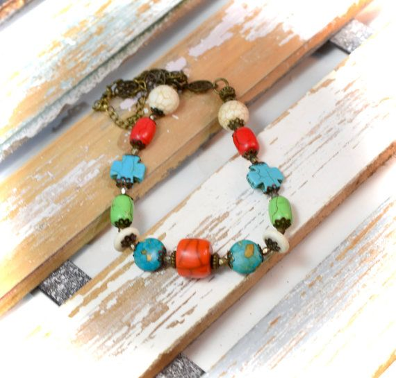 Colorful Turquoise Hoplite Necklace, A Western Necklace, Cowgirl Jewelry, Sundance Style Jewelry, Southwestern Jewelry, Perfect Gift for Her