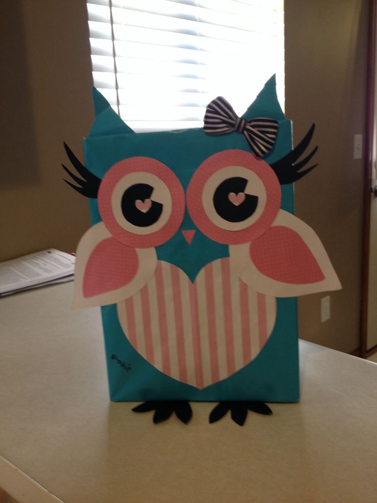 Owl Valentine's Box
