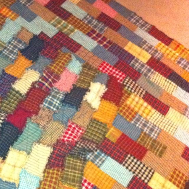 Rag quilt I made! :)