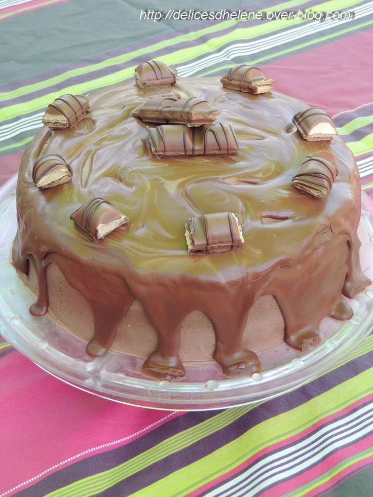 LAYER CAKE NUTELLA ET KINDER BUENO