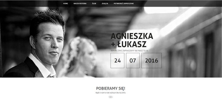 Strona ślubna do serii papeterii Czarno na białym. Zobacz na żywo i wypróbuj za darmo tutaj: https://szablonbiala.bioreciebieza.pl/?ref=sklep