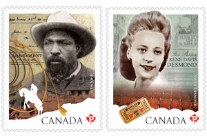 <p>Canada Post issued two stamps today in celebration of Black History Month, highlighting the experiences and accomplishments of two remarkable Canadians: Viola Desmond and John Ware.</p>