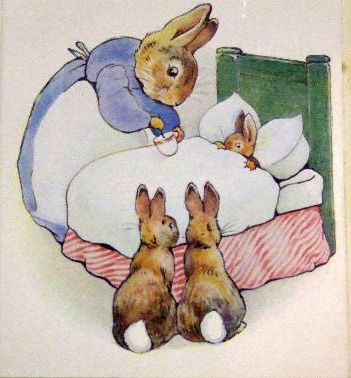 """""""The Tale of Peter Rabbit"""" is a famous British children's book written and illustrated by the brilliant Beatrix Potter. The story follows mischievous and disobedient young Peter Rabbit as he is chased about the garden of Mr. McGregor. He escapes and returns home to his mamma who puts him to bed after dosing him with a nice cup of camomile tea."""
