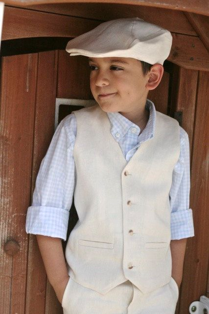 Hey, I found this really awesome Etsy listing at http://www.etsy.com/listing/153809050/ivory-linen-hat-shorts-and-waistcoatvest