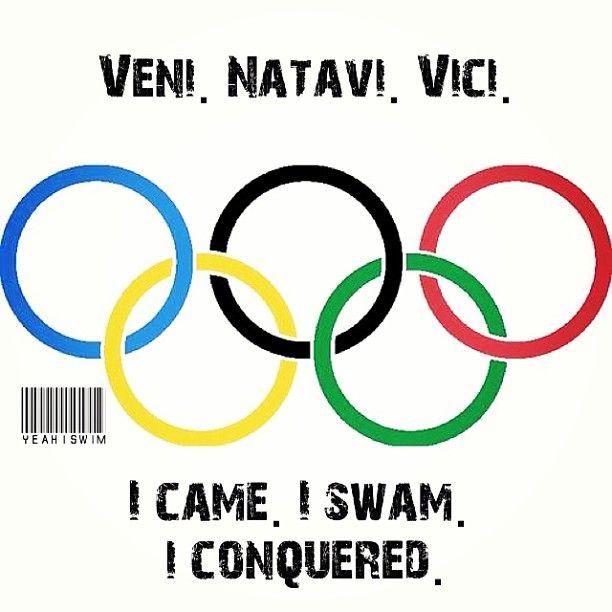 Veni, natavi, vici.. I came, I swam, I conquered :)