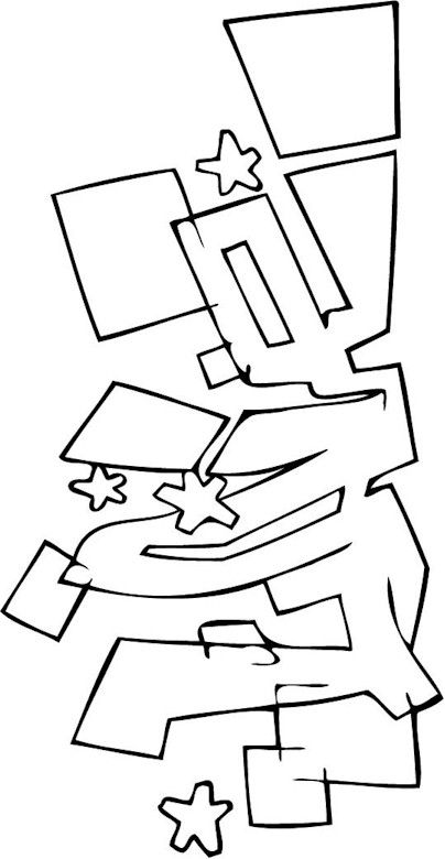 s graffiti coloring pages - photo #48