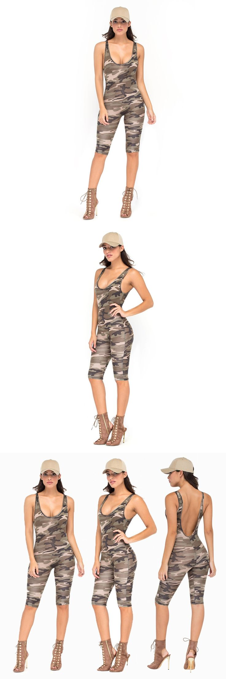 Hot 2016 Sexy Women Jumpsuits explosion models sexy camouflage coveralls pants Jumpsuit Bandage Club Macacoes monos