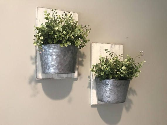 This Listing Is For A Single Or Set Of Gorgeous Farmhouse Style Galvanized Wall Planters These Wal Galvanized Wall Decor Farmhouse Wall Decor Galvanized Decor